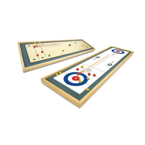 Merchant Ambassador Team Shuster Gold Medal High Quality Wood Tabletop Curling Set - N/A