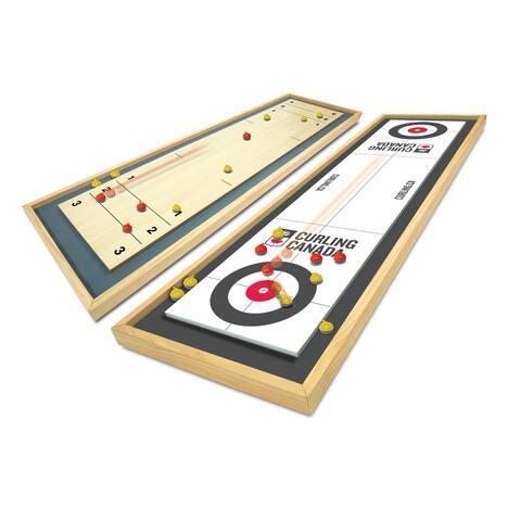 Merchant Ambassador Team Canada Deluxe Wood Tabletop Curling Set - N/A