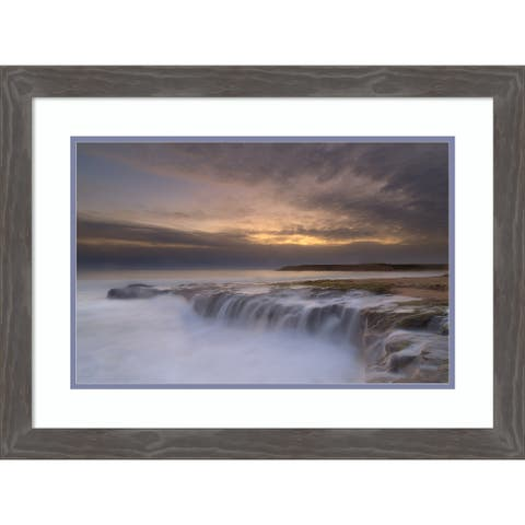 Framed Wall Art Print Waterfall by Yan L 27.75 x 20.75-inch