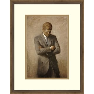 Link to Framed Wall Art Print Jfk by Aaron Shikler 14x18-inch Similar Items in Art Prints