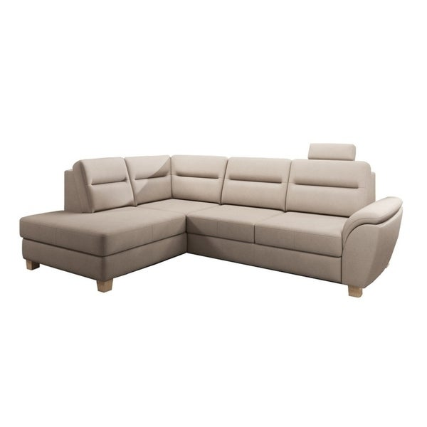 TISAN Leather Sectional Sofa, Left Corner. Opens flyout.