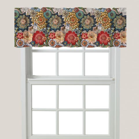 Boho Bouquet Window Valance