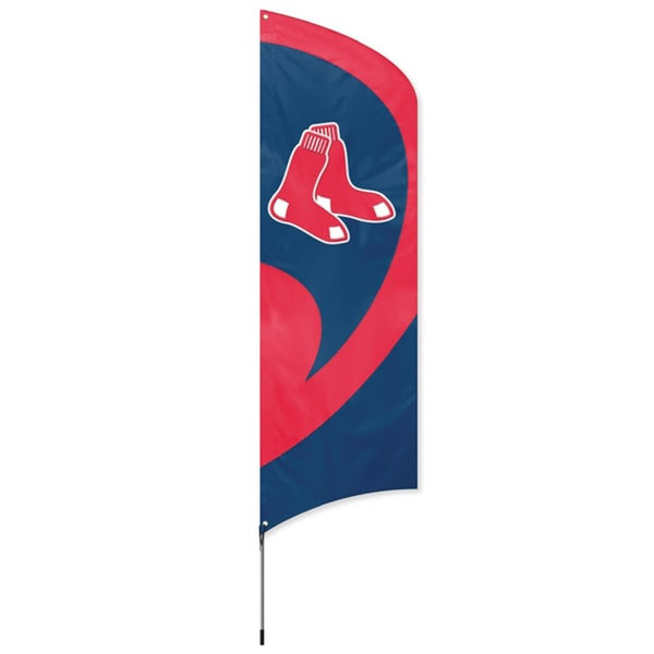 Boston Red Sox 8-foot Banner Flag with Stand