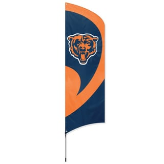 Chicago Bears Team Banner Flag with Stand