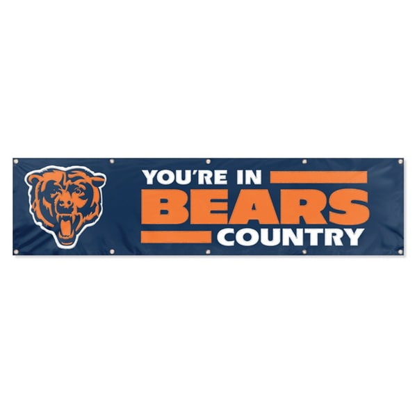 Chicago Bears 8-foot Official Hanging Banner