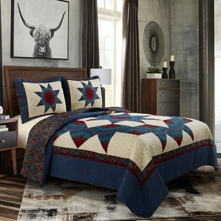 Link to Donna Sharp Lark Broken Star 3pc Cotton Quilt Set Similar Items in Quilts & Coverlets