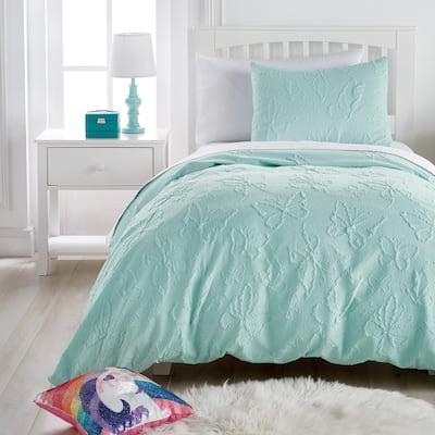 Dream Factory Butterfly 3-Piece Microsculpt Comforter Set