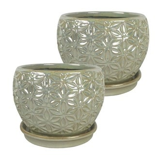 """Link to 8"""" Elora Planter, Pearl 2-pk. Similar Items in Planters, Hangers & Stands"""