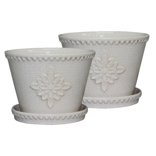 """Link to 8"""" Lorna Planter, Pearl 2-pk. Similar Items in Planters, Hangers & Stands"""