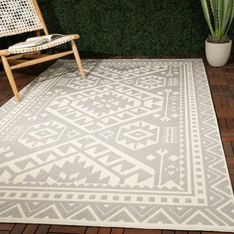 Alessi Global Geometric Indoor/Outdoor Area Rug