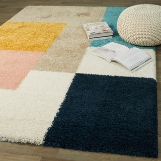 Link to Balta Joshua Modern Color Block Shag Area Rug Similar Items in Industrial Rugs
