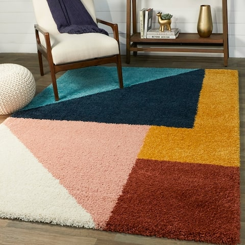 Balta Jordan Modern Color Block Shag Area Rug