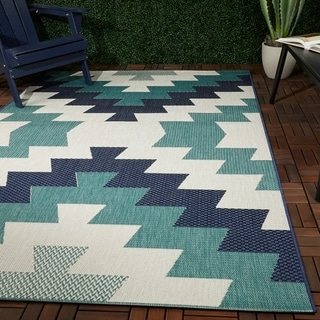Link to Levete Southwestern Indoor/Outdoor Area Rug Similar Items in Patterned Rugs