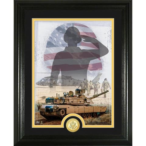 Army Patriotic Bronze Coin Vertical Photo Mint