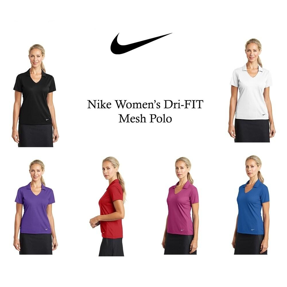 Nike Womens DRI-FIT Mesh Polo