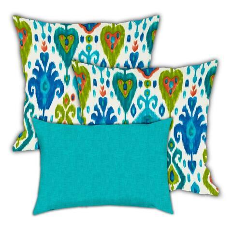 Rio Grande River Indoor/Outdoor, Zippered Pillow Cover, Set of 3 Pillow