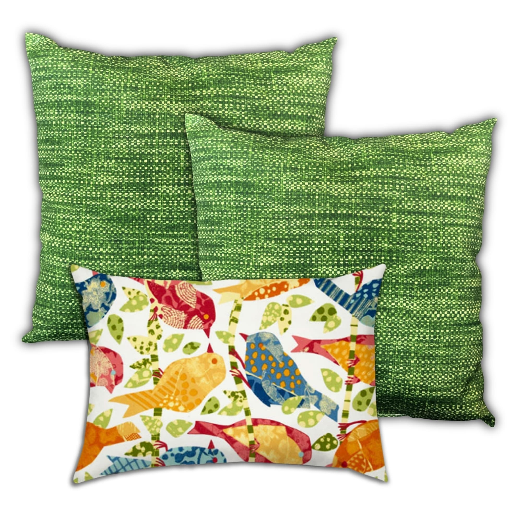 Birds Singing On A Wire Indoor Outdoor Zippered Pillow Cover Set Of 3 Pillow Overstock 31211523