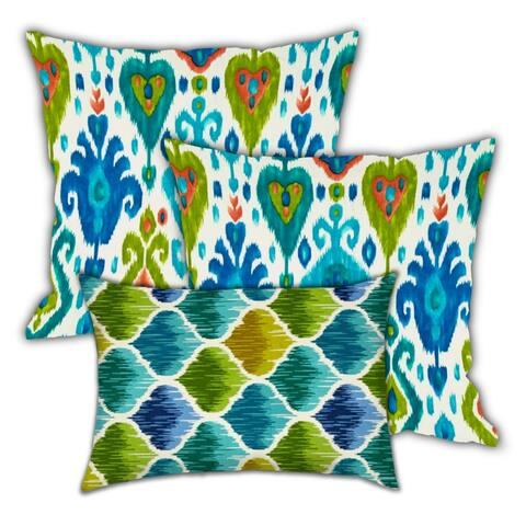 Nights Indoor/Outdoor, Zippered Pillow Cover, Set of 2 Large & 1 Lumbar