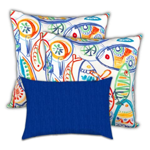 Fisherman's Refuge Indoor/Outdoor, Zippered Pillow Cover, Set of 3 Pillow