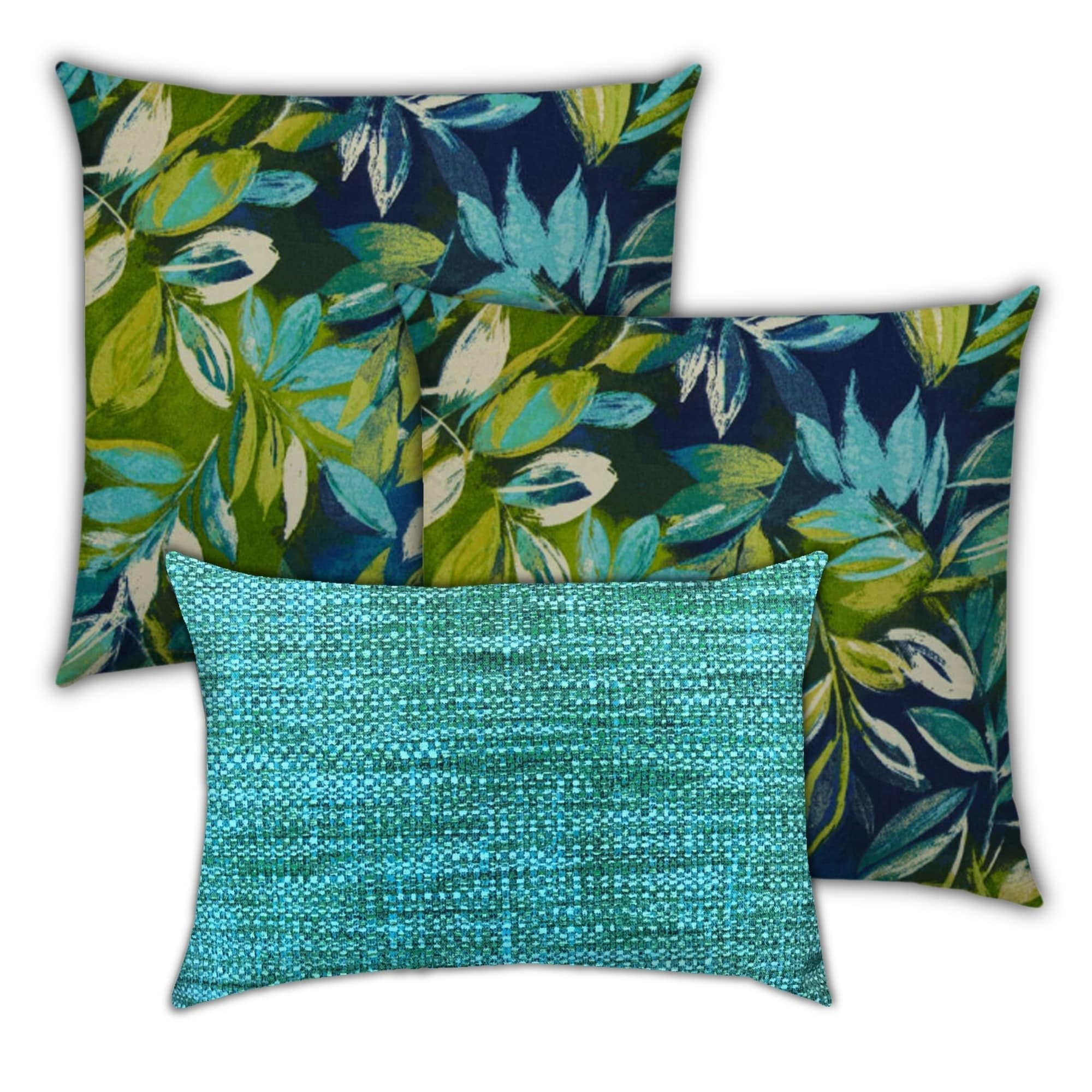 Catfish Springs Indoor Outdoor Pillow Set Of 2 Large 1 Lumbar Pillow On Sale Overstock 31214743