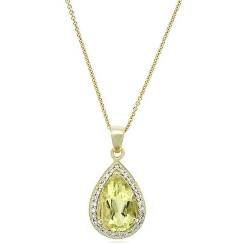 Glitzy Rocks Gemstone and Cubic Zirconia Necklace