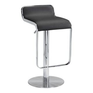 Hollywood Black Leatherette Chrome-plated Steel Barstool