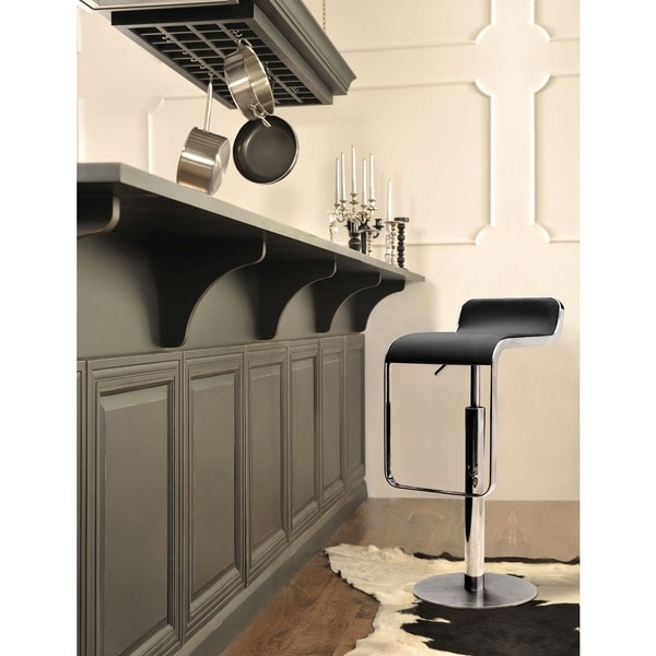 Zuo Chrome and Steel White Hollywood Barstool