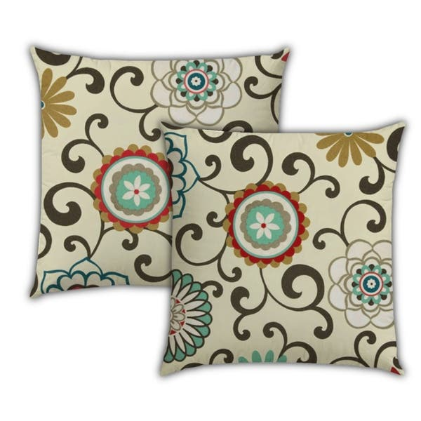 Peaches And Cream Indoor Outdoor Zippered Pillow Cover Set Of 3 Pillow Overstock 31221354