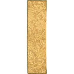 Safavieh Hand-hooked Abrashed Beige/ Light Brown Wool Runner (2'6 x 12')