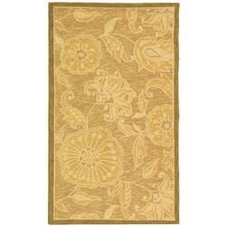Safavieh Hand-hooked Eden Abrashed Beige/ Light Brown Wool Rug (2'9 x 4'9)