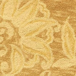 Safavieh Hand-hooked Eden Abrashed Beige/ Light Brown Wool Rug (3' Round) - Thumbnail 1