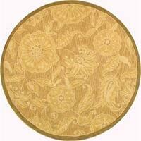 Safavieh Hand-hooked Eden Abrashed Beige/ Light Brown Wool Rug (8' Round) - 8' Round