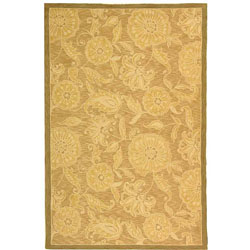 Safavieh Hand-hooked Eden Abrashed Beige/ Light Brown Wool Rug (5'3 x 8'3)