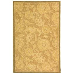 Safavieh Hand-hooked Eden Abrashed Beige/ Light Brown Wool Rug - 6' x 9'