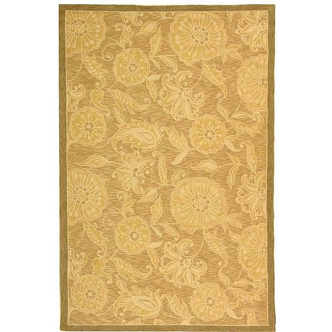 Safavieh Hand-hooked Eden Abrashed Beige/ Light Brown Wool Rug - 7'9 x 9'9