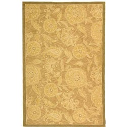 Safavieh Hand Hooked Abrashed Beige/ Light Brown Wool Rug (8u00279 X