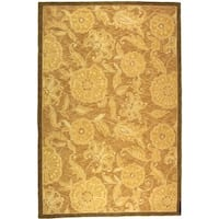 "Safavieh Hand-hooked Abrashed Beige/ Light Brown Wool Rug - 8'9"" x 11'9"""
