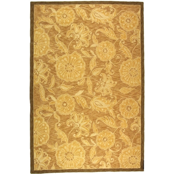 "Safavieh Hand-hooked Abrashed Beige/ Light Brown Wool Rug - 8'9"" x 11'9"""
