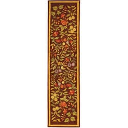 Safavieh Hand-hooked Botanical Burgundy Wool Runner (2'6 x 8')