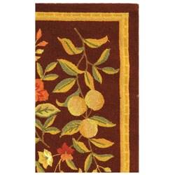 Safavieh Hand-hooked Botanical Burgundy Wool Runner (2'6 x 6')
