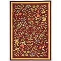 Safavieh Hand-hooked Botanical Burgundy Wool Rug - 8'9 X 11'9
