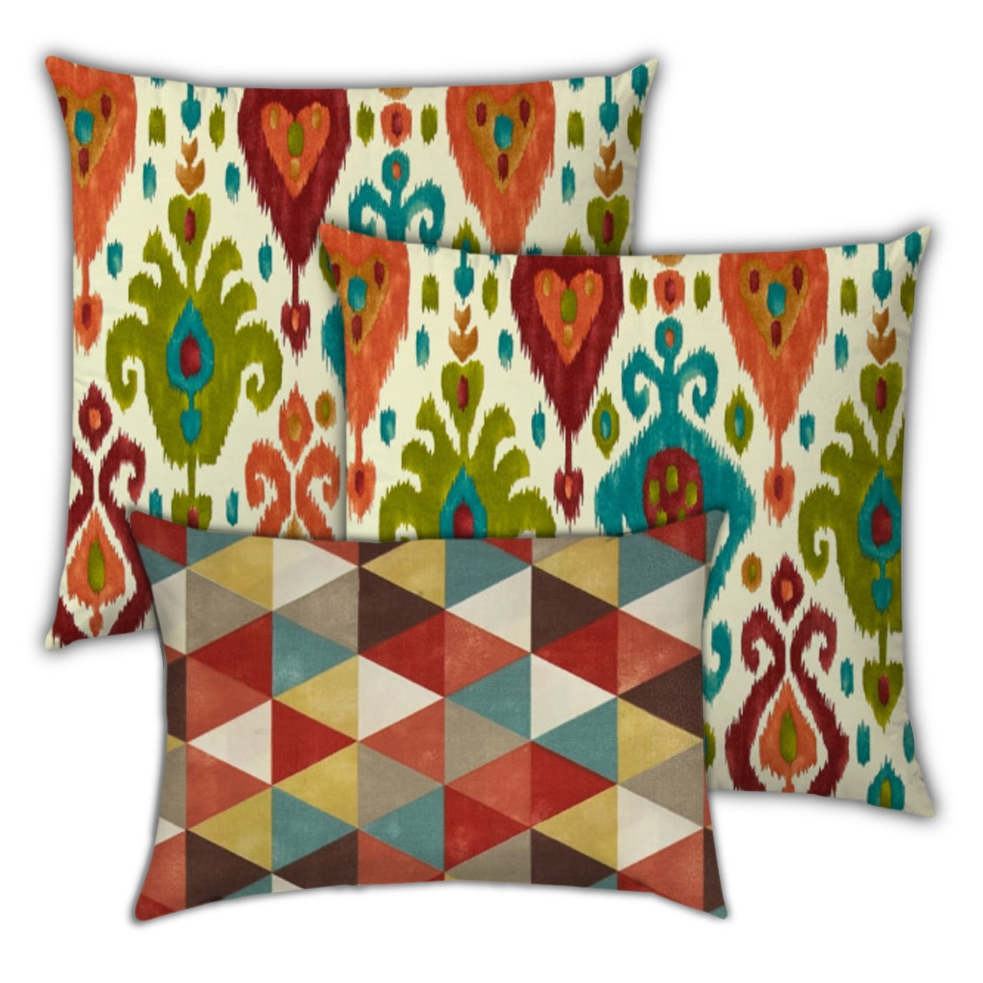 Joita Home Indian Summers Indoor Outdoor Zippered Pillow Cover With Insert Set Of 2 Large 1 Lumbar On Sale Overstock 31222110