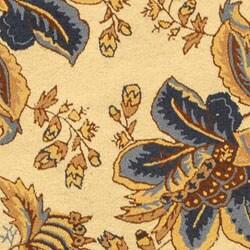 Safavieh Hand-hooked Garden Ivory Wool Rug (5'6 Round) - Thumbnail 1