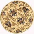 """Safavieh Hand-hooked Garden Ivory Wool Rug - 5'6"""" x 5'6"""" round"""