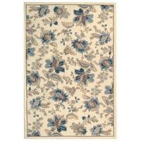 "Safavieh Hand-hooked Garden Ivory Wool Rug - 7'-9"" x 9'-9"""