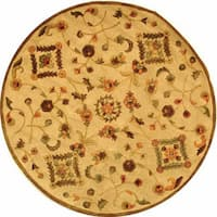 Safavieh Handmade Fable Cream New Zealand Wool Rug (6' Round) - 6' Round