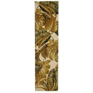 "Safavieh Handmade Mandarin Casual Ivory / Sage Wool Rug - 2'6"" x 12'"