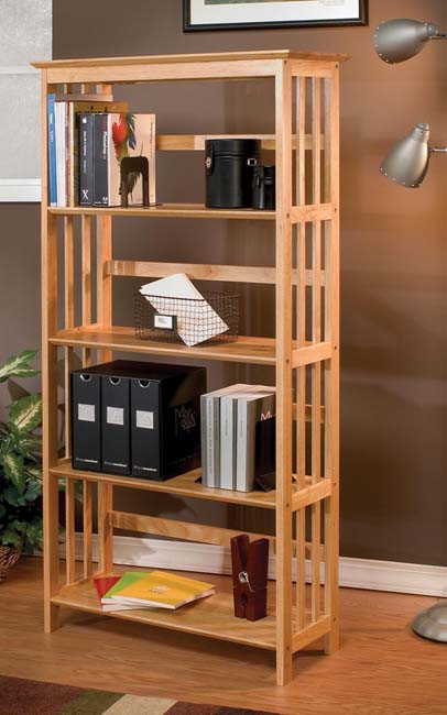 Mission Style Solid Wood Bookcase Free Shipping Today Overstock Com 11250735