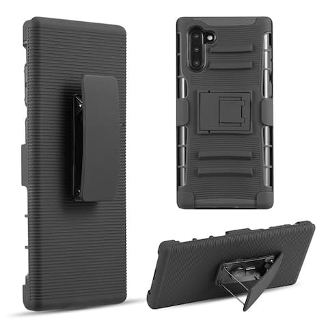 samsung galaxy note 10 hybrid case black skin + black pc with h style
