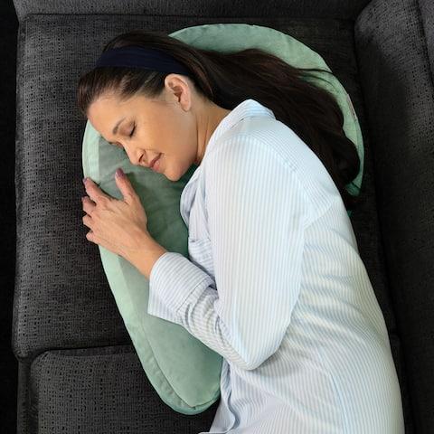 Avana Uno Adjustable Memory Foam Snuggle Pillow for Side Sleepers Microvelvet